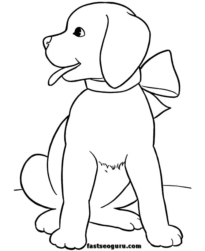 coloring pages dogs christmas - photo#24