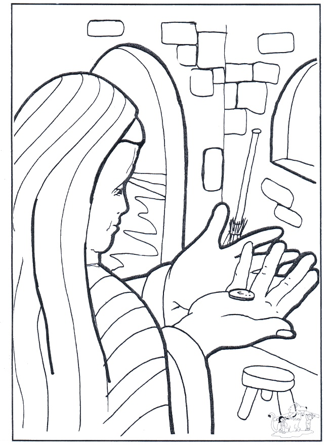 lost coin coloring pages - photo#3