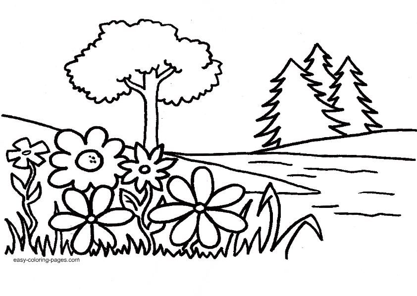 garden coloring pages preschool - photo#6