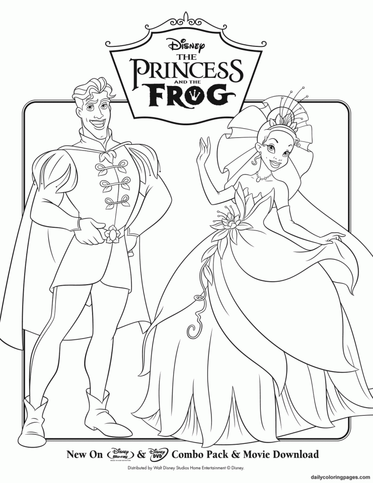 Princess And The Frog Coloring Pages For Kids Az From The Princess And The Frog Free Coloring Sheets