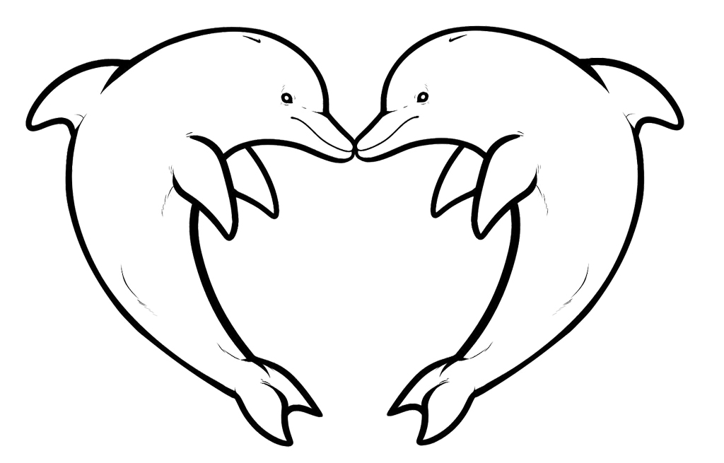 e coloring pages for dolphins - photo #14