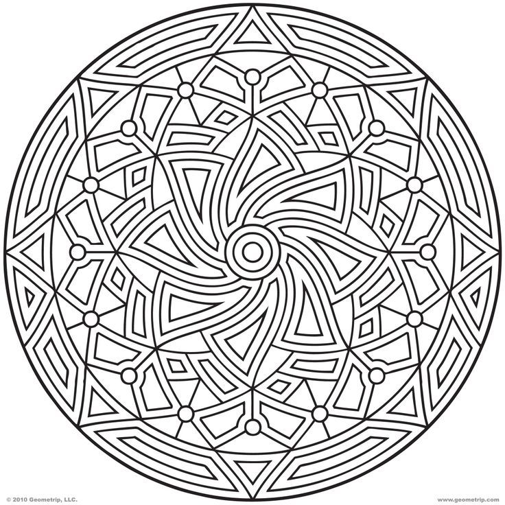 Coloring pages geometric designs coloring home for Geometric coloring pages online