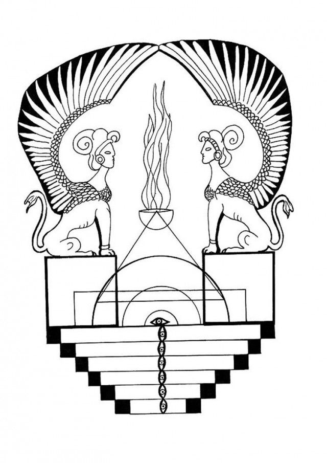 egyptian sphinx coloring pages - photo#16