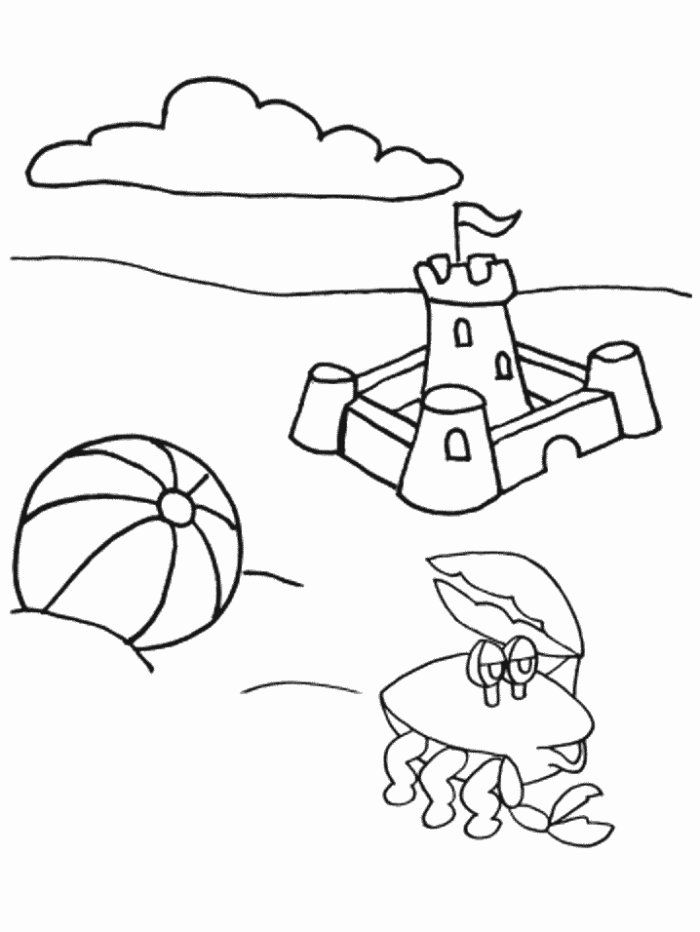 Sand Castle Coloring Pages Coloring Home Sandcastle Coloring Page