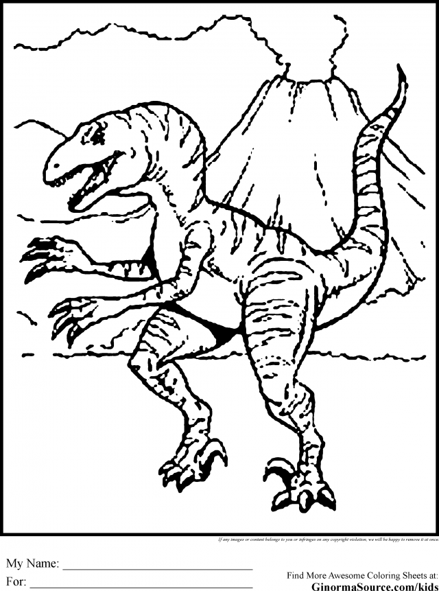 Dinosaurs Coloring Pages Tyrannosaurus Rex Coloring Page Kids