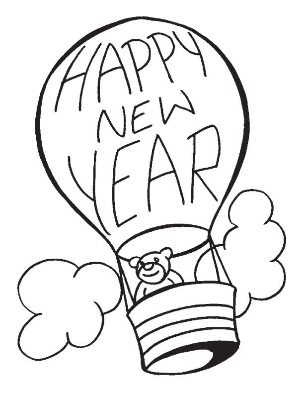 New Year 2015 Coloring Pages New Years Day Coloring Pages