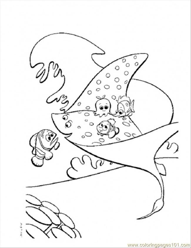 Coloring Pages Mrray (Cartoons > Finding Nemo) - free printable