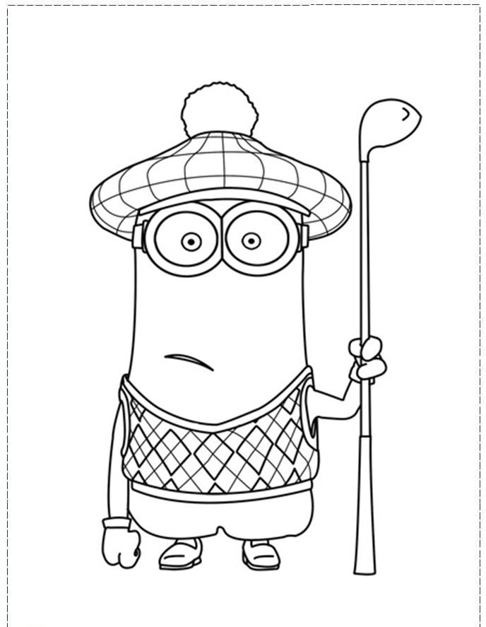 minion tim coloring pages - photo#7