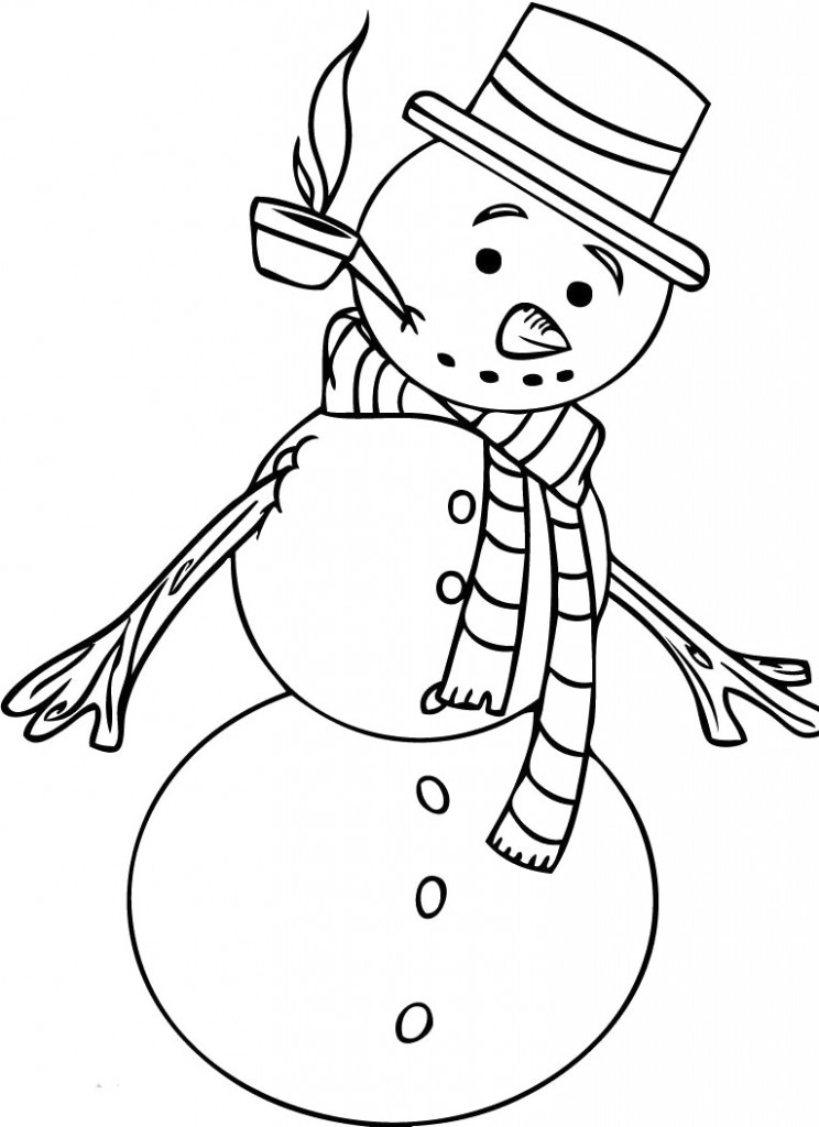 the snowman coloring pages - photo#24