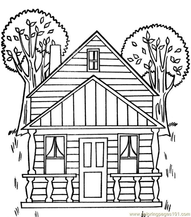 Coloring Pages House Coloring Home