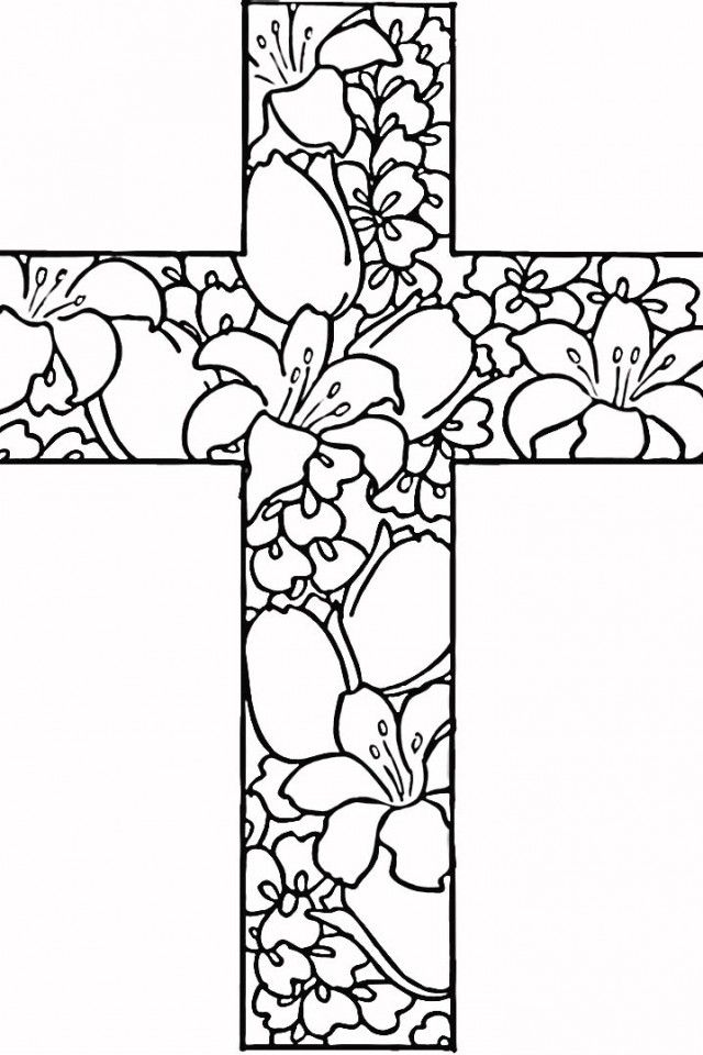Cross coloring pages kids az coloring pages for Coloring pages of cross