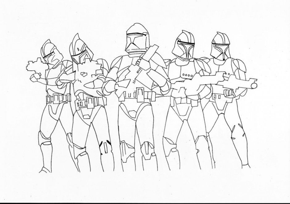 Star Wars The Clone Wars Coloring Pages Printable Kids Coloring