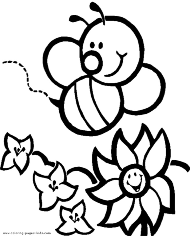 honey bee coloring pages - photo #13