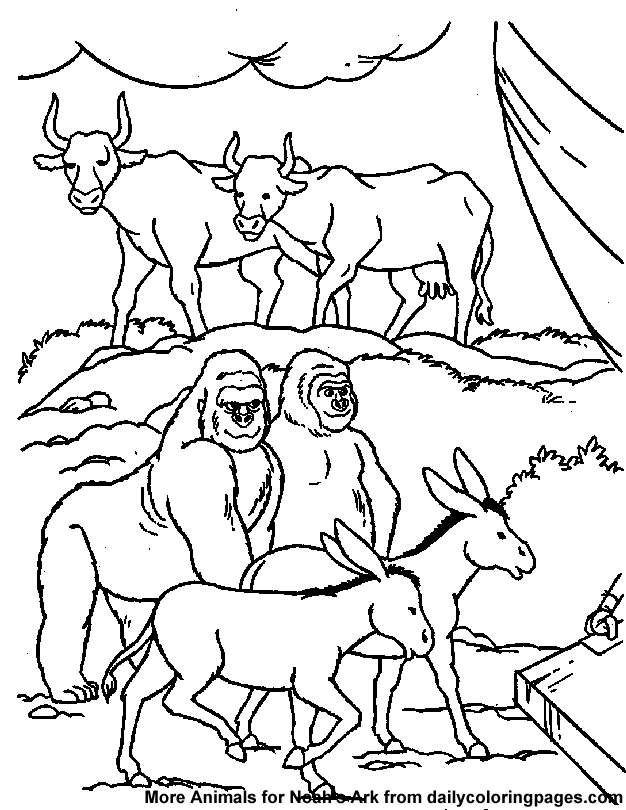 God Made The Animals Coloring Page Coloring Home