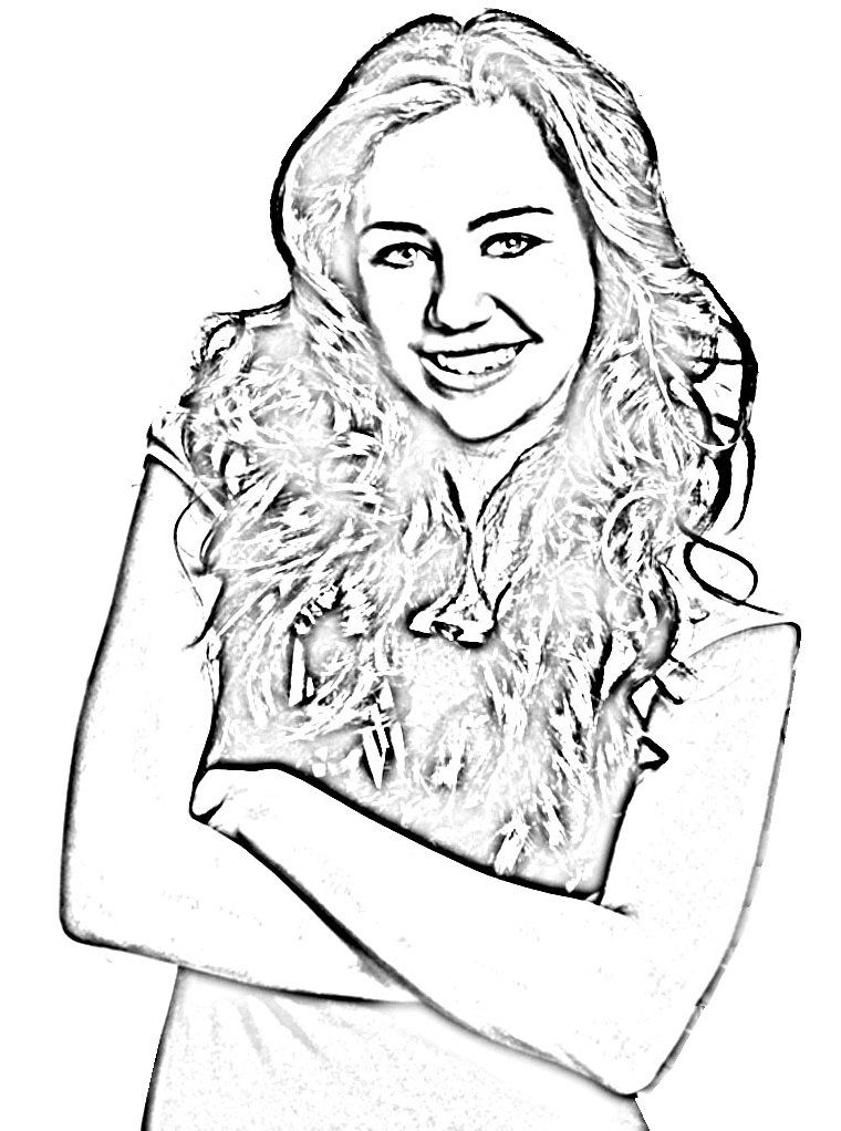 miley cyrus coloring pages printable - photo#25