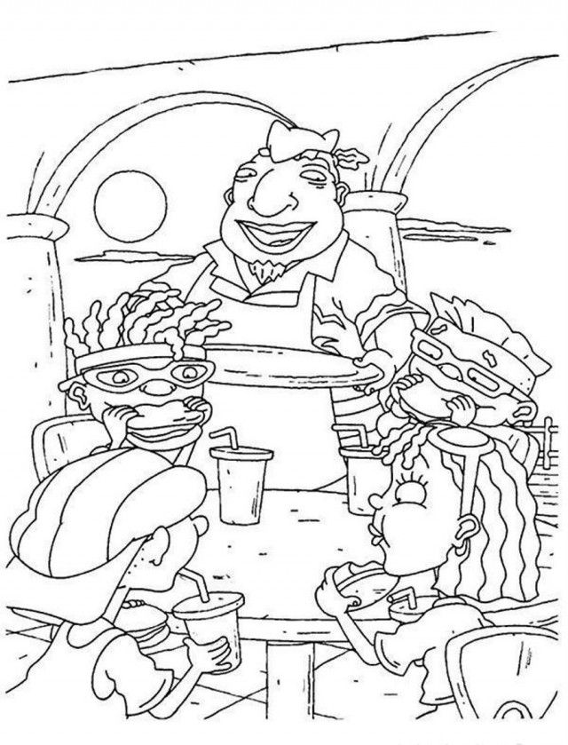 rocket power coloring pages - photo#19