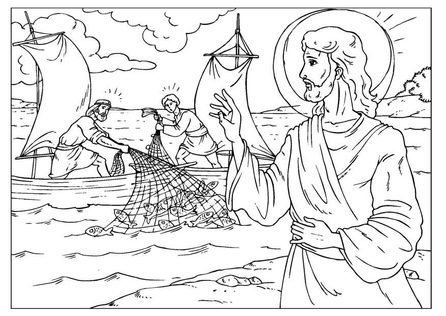coloring page fishers of men img 25929 - Fishers Of Men Coloring Page