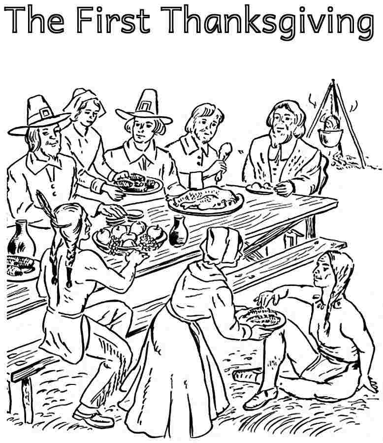 Pilgrim indian coloring pages az coloring pages for Indian coloring pages for thanksgiving
