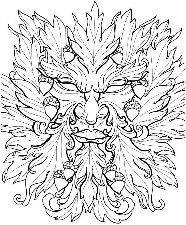 free wiccan coloring pages - photo#10
