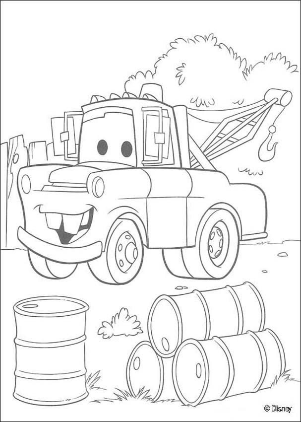 Mater Coloring Page  Coloring Home