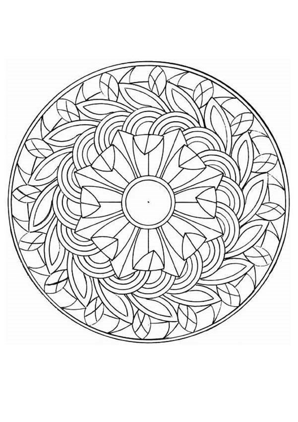 intricate mandala coloring pages - photo#15