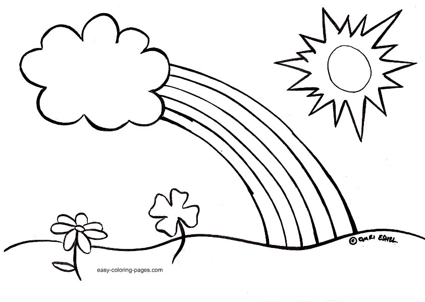 Free Coloring Pages For Preschoolers Spring : Easy coloring pages for kids az