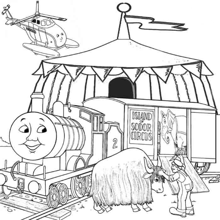 Coloring Pages Of Thomas The Train - Coloring Home
