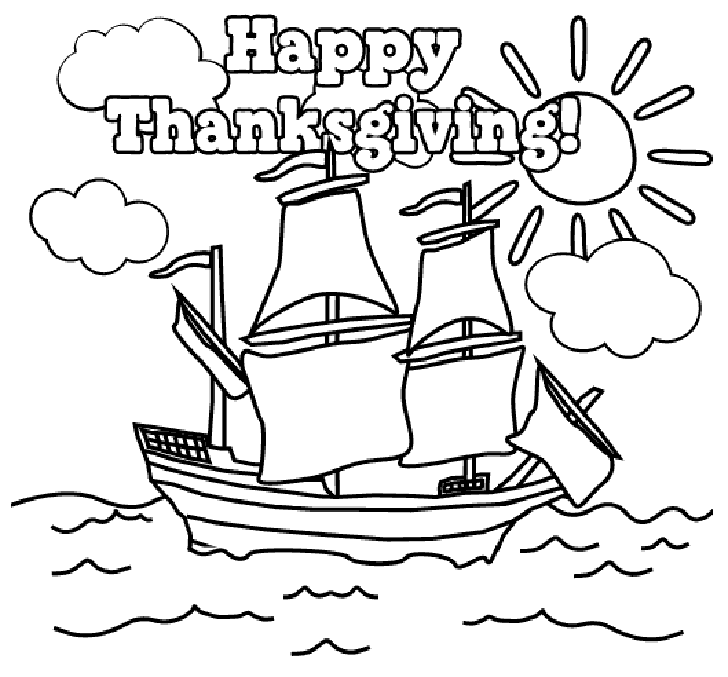 happy thanksgiving coloring page – 728×677 High Definition
