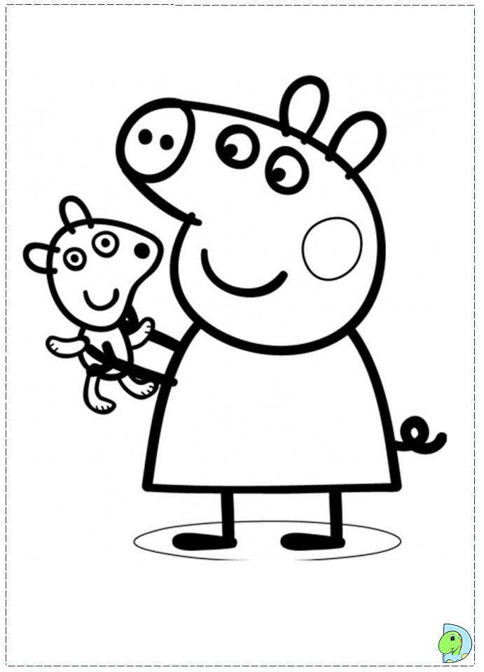 Peppa pig coloring pages az coloring pages for Coloring pages peppa pig