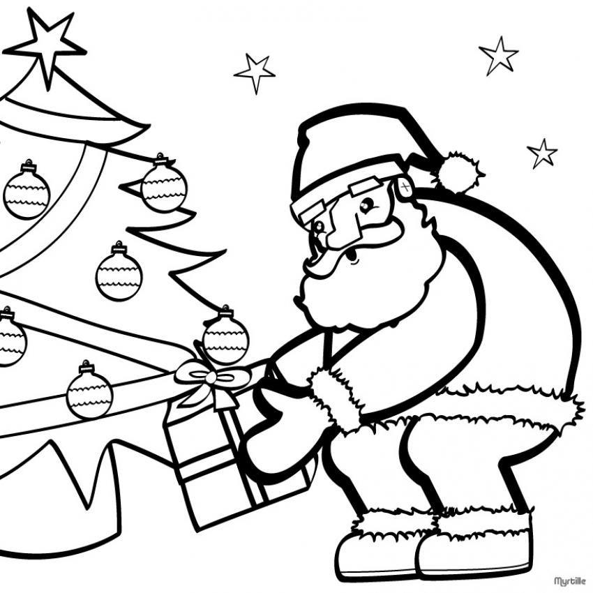 Dibujos De Papa Noel Para Colorear Mamá Trillizos Coloring Home