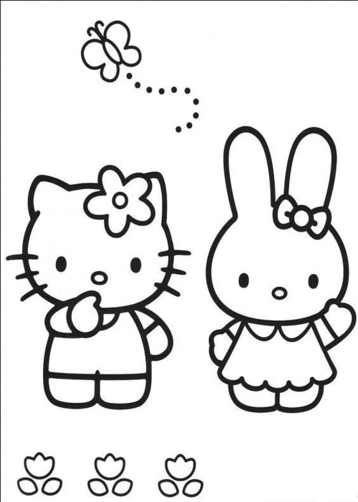 Easy Free Hello Kitty Th Coloring Pages