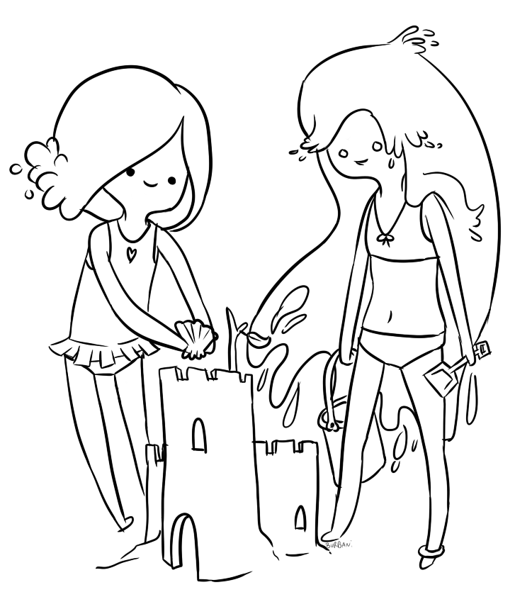 Adventure time coloring pages coloring home for Adventure coloring pages