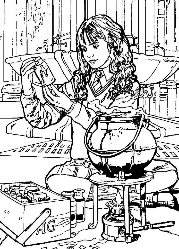 harry potter coloring pages hermione - photo#15