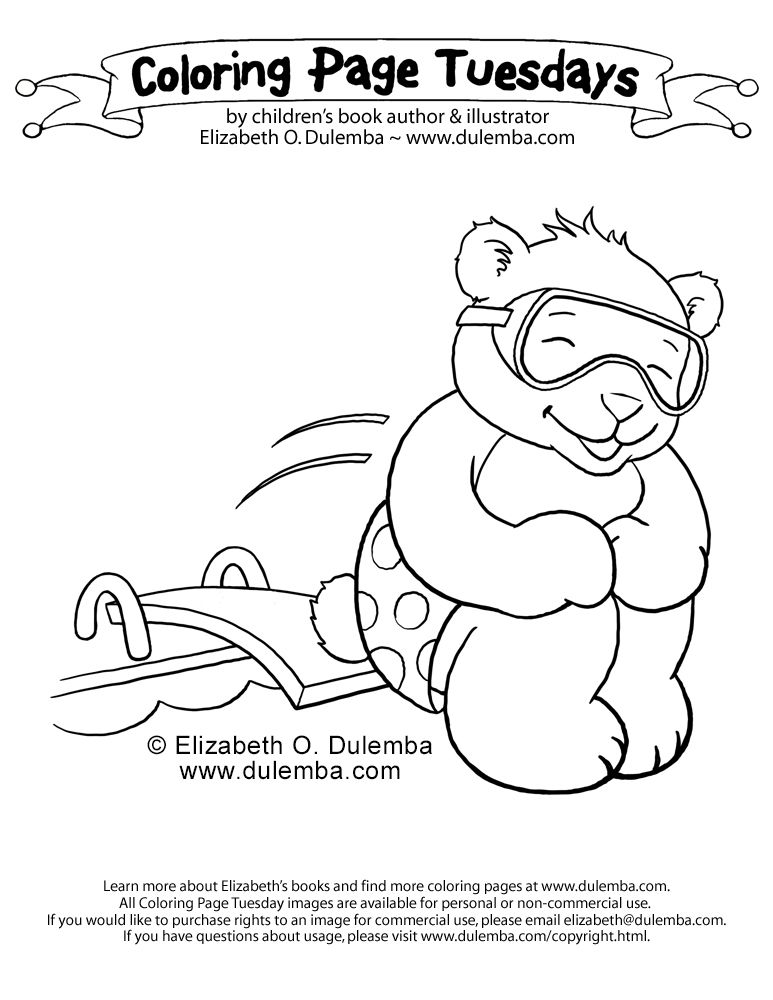 dulemba: Coloring Page Tuesday - Cannonball!