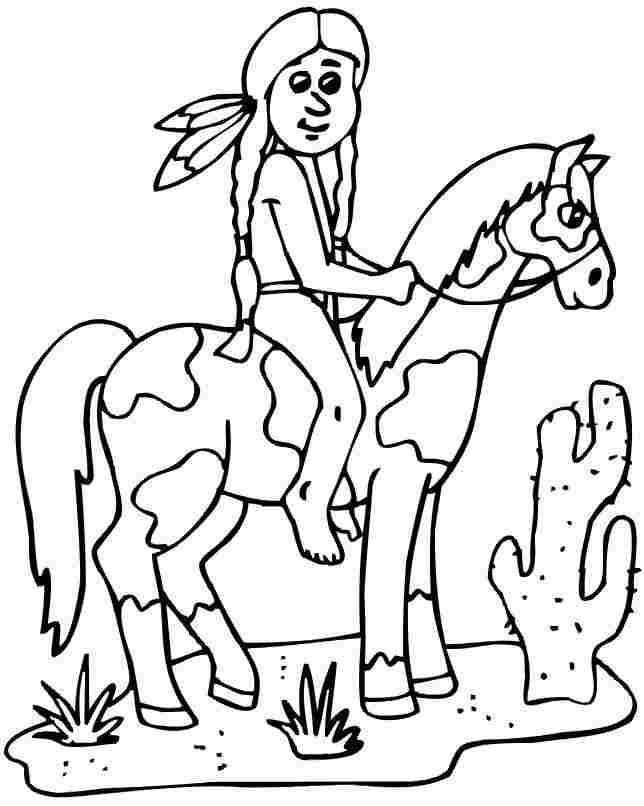 thanksgiving indian coloring pages printable - photo #43
