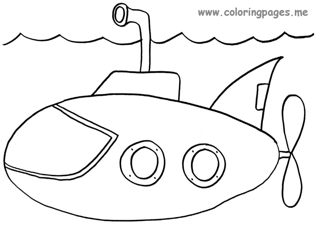 Navy Submarine Coloring Page Images & Pictures - Becuo