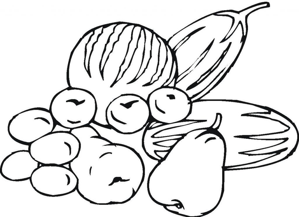 Fruits and vegetables Coloring pages | download free printable