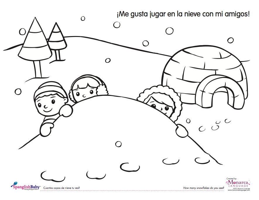image regarding The Snowy Day Printable called Snowy Working day Coloring Webpages - Coloring Dwelling