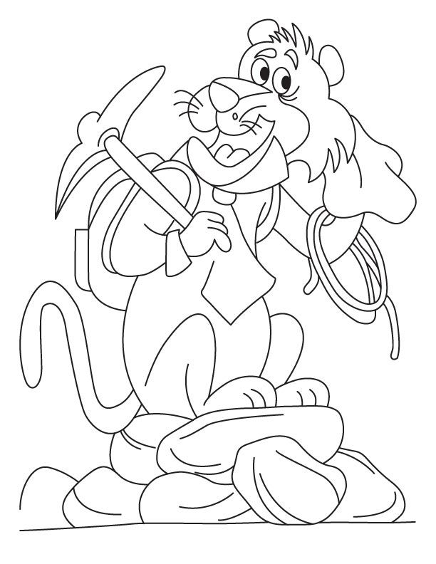 alex the lion coloring pages - photo#18