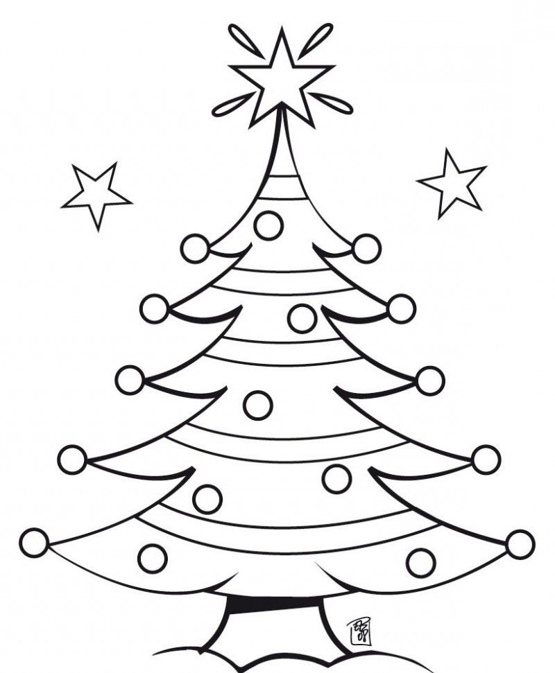 A Christmas Tree To Decorate In The Three Star Coloring ...