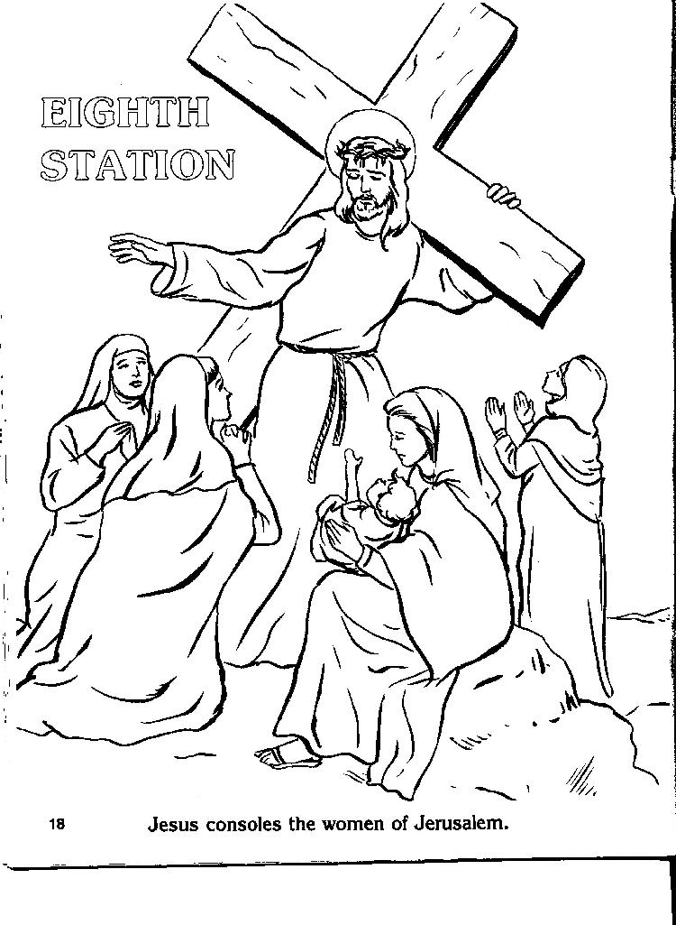Stations Of The Cross Coloring Pages Free Download
