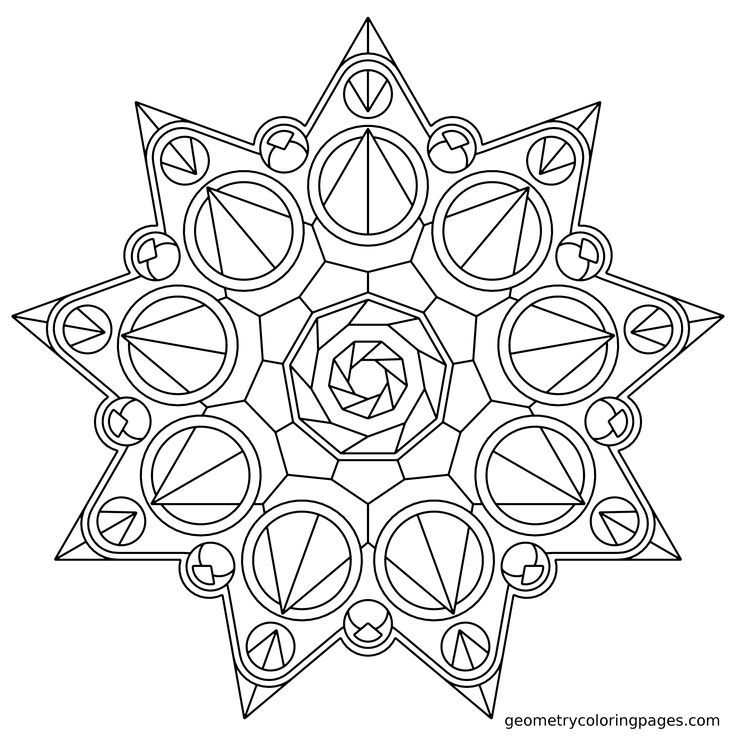Geometric Mandala Coloring Pages Coloring Home Geometric Mandala Coloring Pages