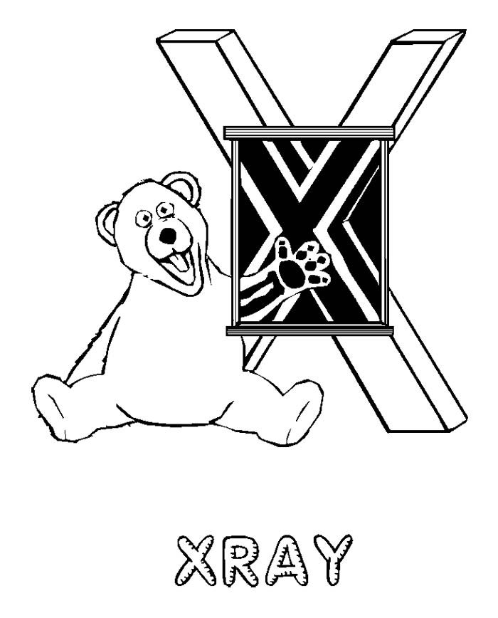 X Ray Coloring Pages Home Sketch Coloring Page