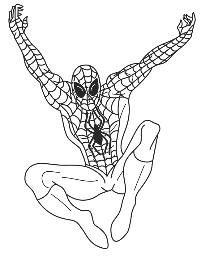 Spiderman Color Pages For Kids Online Coloring Pages Coloring Home