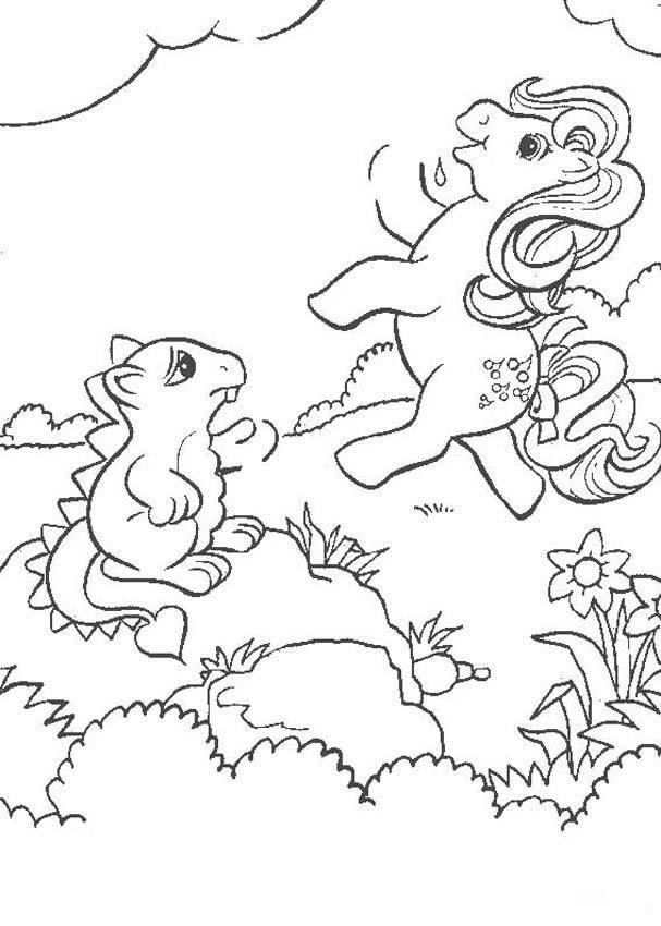 MY LITTLE PONY coloring pages - Ponies and rainbow