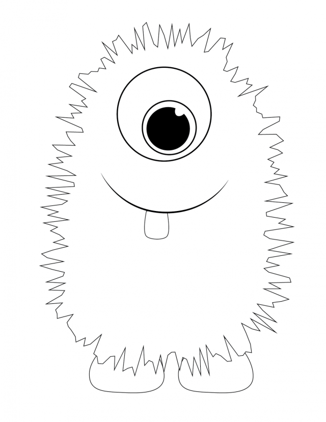 Yellow Monster Birthday Coloring Pages Coloring Pages 227325