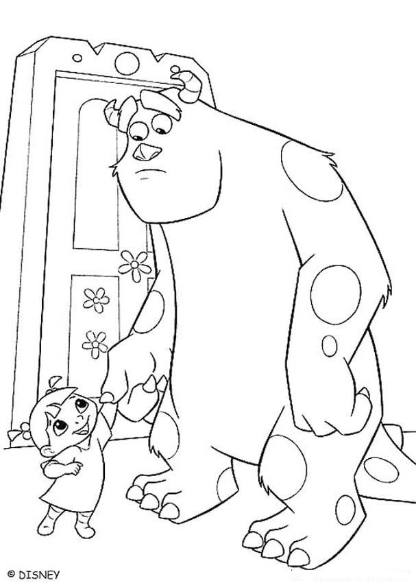 387574e4e Monsters Inc Sully Coloring Page Images & Pictures - Becuo