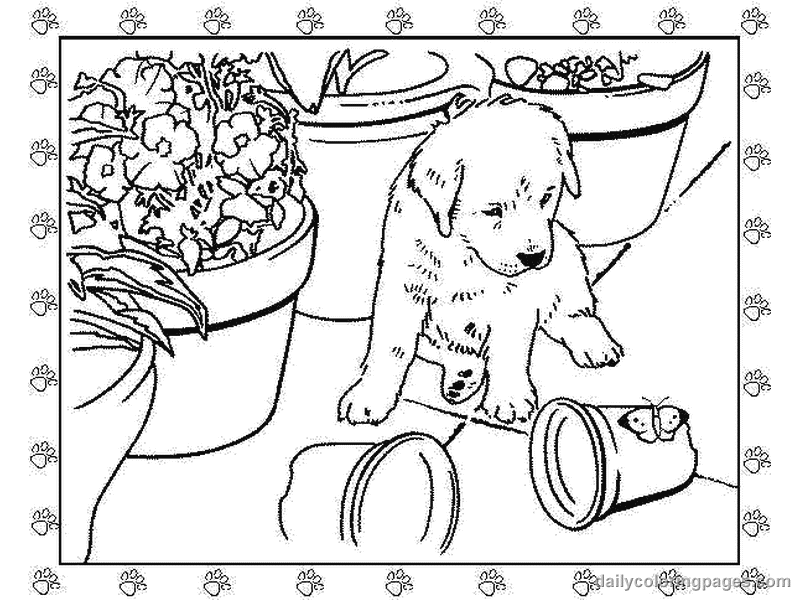 Kids Coloring Printable Coloring Pages Puppy Dogs For Kids Working
