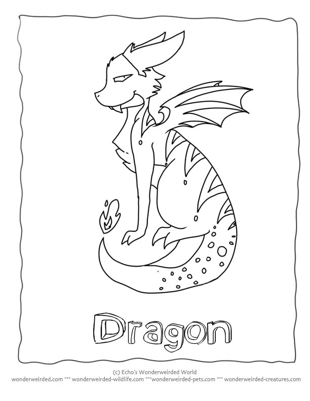 cartoon dragons coloring pages - photo#28