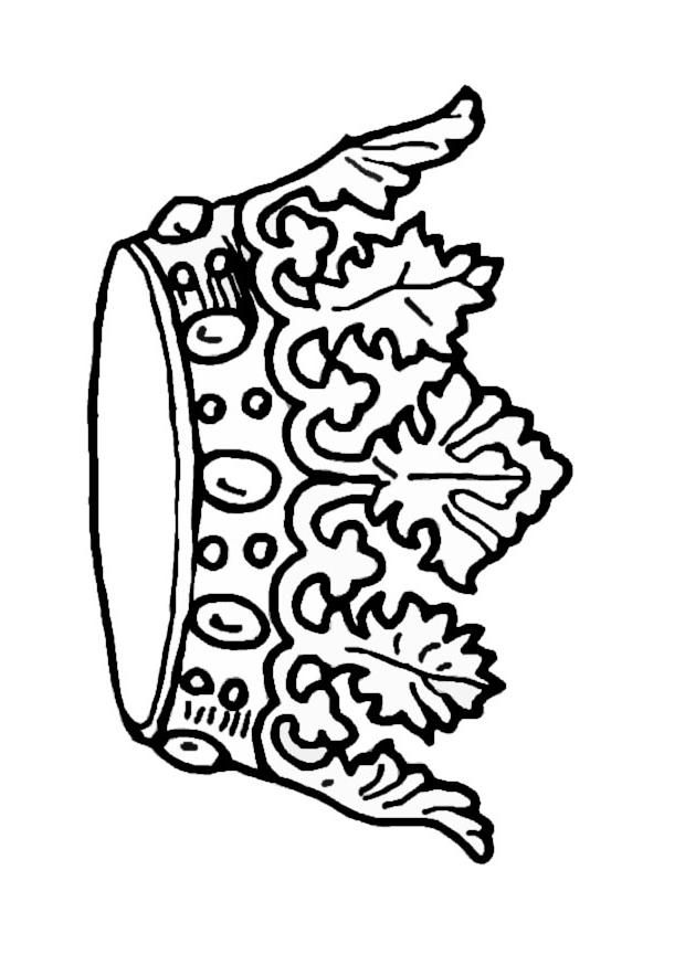 coloring pages with crowns - photo#18